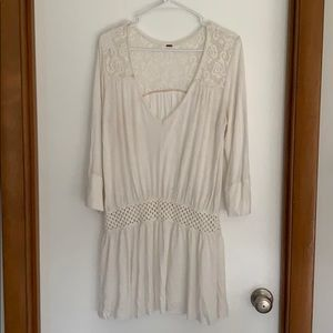 Free People lace and crochet tunic